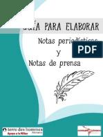 Guia Para Elaborar Notas Periodisticas