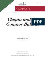 Chopin Ballade G Minor Analysis.