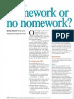 Homework or No Homework
