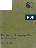 Linell, P. 1982, The Written Language Bias in Linguistics