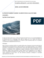 Proyecto Minero Tía María-Arequipa_ Las Dos Versiones _ Iteca_ Armando Arteaga