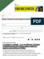 Como Saber Si Alguien Me Quiere Solo Por El Dinero - FinanzasPersonales.com