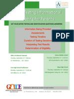 Parent Testing Flyer 15-16