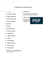 Lista de Simbolos Matemáticos
