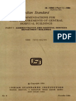 Indian Standard for Hospital Building Part-1