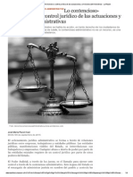 Lo Contencioso-Administrativo Control Jurídico de Las Actuaciones y Omisiones de La Administración Pública - La Razón