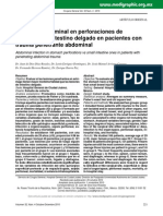 Infecciones Estomago vs Intestino en Trauma Penetrante Abdominal. Cir Gen 2010