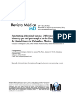 Difference in Hematic Biometry Pre and Postsurgical
