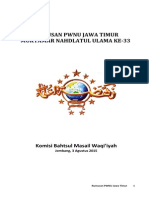 Rumusan PWNU Jatim Masail Waqi'Iyah Muktamar NU Ke 33; Jombang 3 Agustus 2015