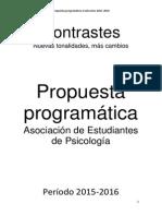 Propuesta Programática Contrastes 2