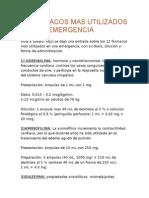 12 Fármacos Mas Utilizados en Una Emergencia