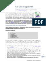Baca Tulis File CSV Dengan PHP