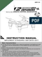 Syma x12 User Manual