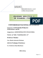 Programaadministracion Financiera Analitico y Final 2014
