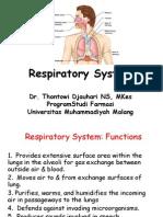 Kuliah 4 Respirasi + cardiovasculer