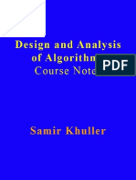 [Khuller S.] Design and Analysis of Algorithms