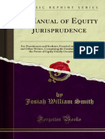 A Manual of Equity Jurisprudence - Josiah William Smith