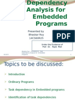 Task Dependency Analysis for Embedded Programs