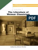 The Literature of Weimar Clasicism