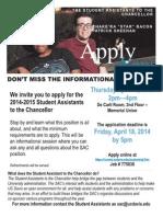 SAC Application Flyer