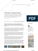 Thayer Vietnam's 12th Party Congress - The China Factor