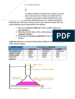 titration ( chemistry Experiment report)