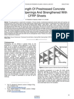 Flexural Strength of Prestressed Concrete Beams With Openings and Strengthened With Cfrp Sheets