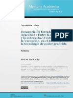 Desaparición Forzada en Argentina