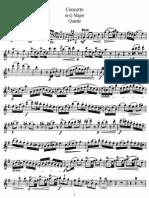 Quantz Concerto G Flute