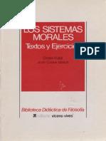 Fullat, O. - Los Sistemas Morales Ed, Vicen-Vives