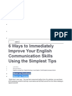 6 Ways to Immediately Improve Your English Communication Skills Using the Simplest Tips