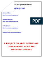 243174738 Project on Muthoot Finance