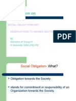 Social Obligation & Res.2 Weaker Sections
