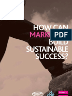 How Can Marketers Build Sustainable Success?