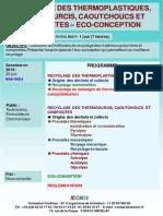 Formation Continue Recyclage Des Thermoplastiques Thermodurcis Caoutchoucs Et Composites Ecoconception