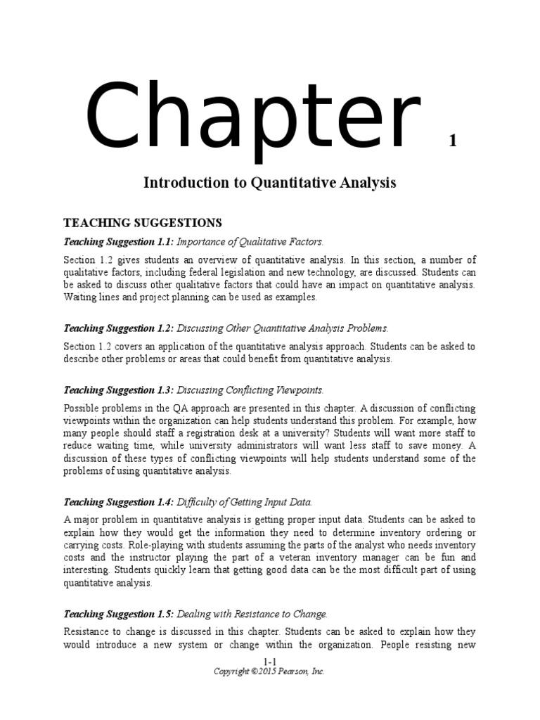quantitative analysis for management 13th edition pearson