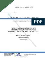 Normativ Izolare Fonica. CP C.04.01 2007