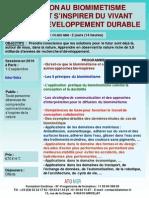 Formation Continue Biomimetisme Comment Inspirer Du Vivant Developpement Durable