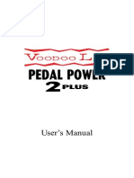Voodoo Lab Pedal Power 2 Plus Uvgdser's Manual