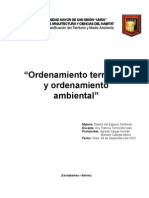 Ordenamiento Territorial y Ambiental