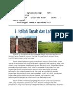 Perbedaan Tanah dan Lahan, Karakter Tanah dalam aspek fisika, biologi, dan Kimia