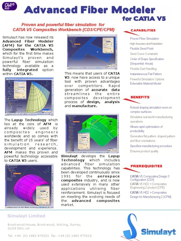 Advanced Fiber Modeler - Catia | Atomic Force Microscopy | Simulation