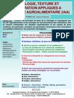Formation Continue Rhéologie Texture Texturation Appliqués Industrie Agroalimentaire IAA
