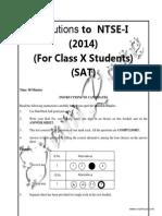 NTSE Stage 1 Delhi Solved Paper 2014