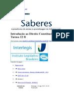 Interlegis - Introdução Direito Constitucional