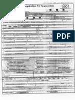 BIR form no. 1901 (November 2014)