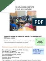 Tipología actividades programa general de fomento lector.