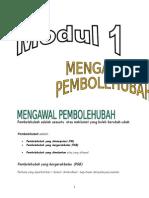 Modul 1 -  Pembolehubah