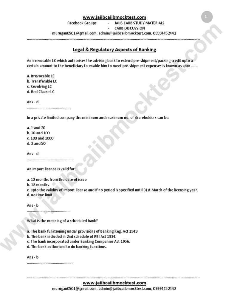 Workbooks jaiib workbook : JAIIB 2322 | Cheque | Letter Of Credit