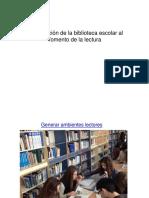 Contribución de la Biblioteca Escolar al fomento lectura.